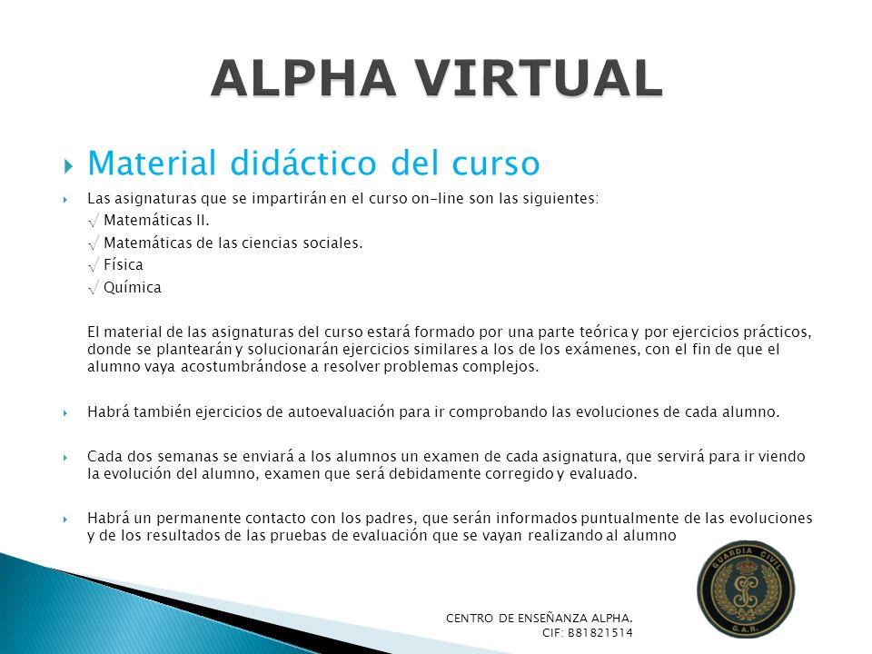 Material didáctico del curso Las asignaturas que se impartirán en el curso on-line son las siguientes: Matemáticas II. Matemáticas de las ciencias soc