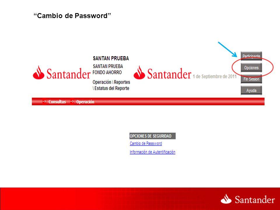 Cambio de Password