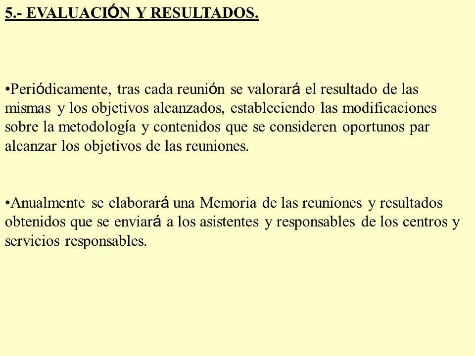 6.- PROPUESTA DEL PLAN Y COORDINACI Ó N DE LAS REUNIONES.