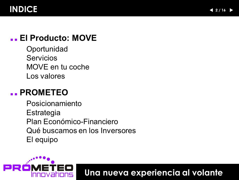 .. El Producto: MOVE Oportunidad Servicios MOVE en tu coche Los valores..