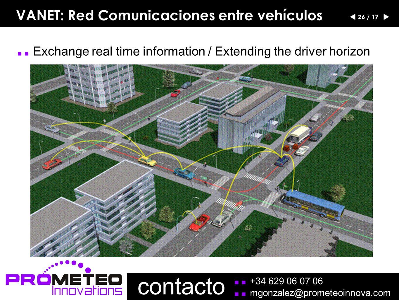 VANET: Red Comunicaciones entre vehículos 26 / 17..