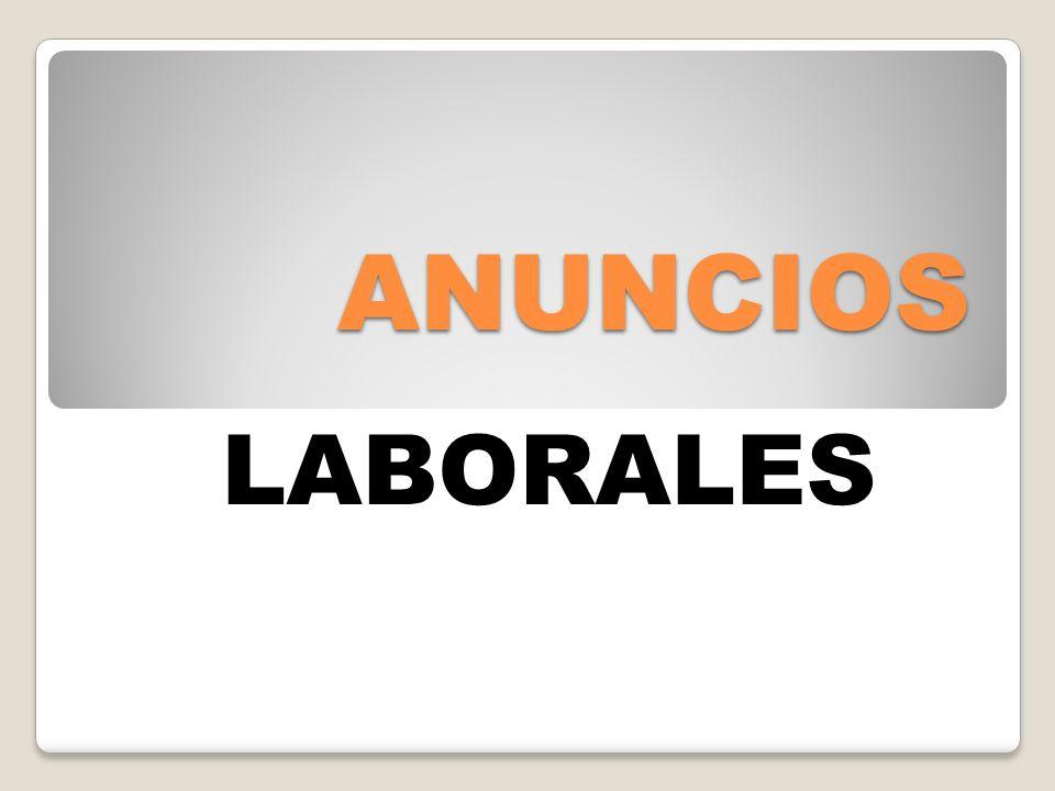 ANUNCIOS LABORALES