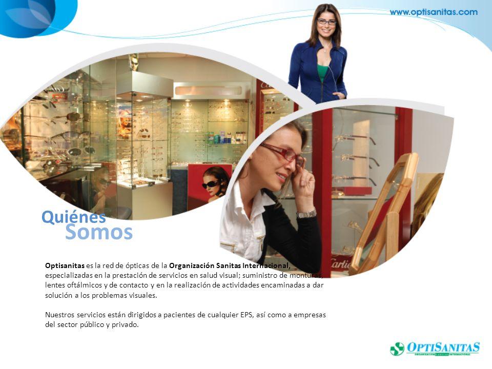 Optisanitas es la red de ópticas de la Organización Sanitas Internacional, especializadas en la prestación de servicios en salud visual; suministro de