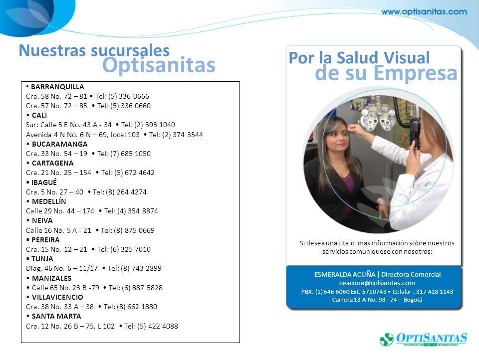 Si desea una cita o más información sobre nuestros servicios comuníquese con nosotros: ESMERALDA ACUÑA | Directora Comercial ceacuna@colsanitas.com PB