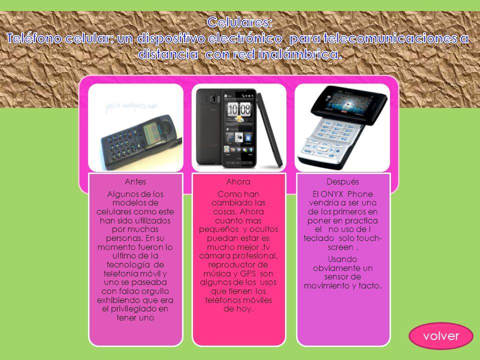 Antes Algunos de los modelos de celulares como este han sido utilizados por muchas personas. En su momento fueron lo ultimo de la tecnología de telefo