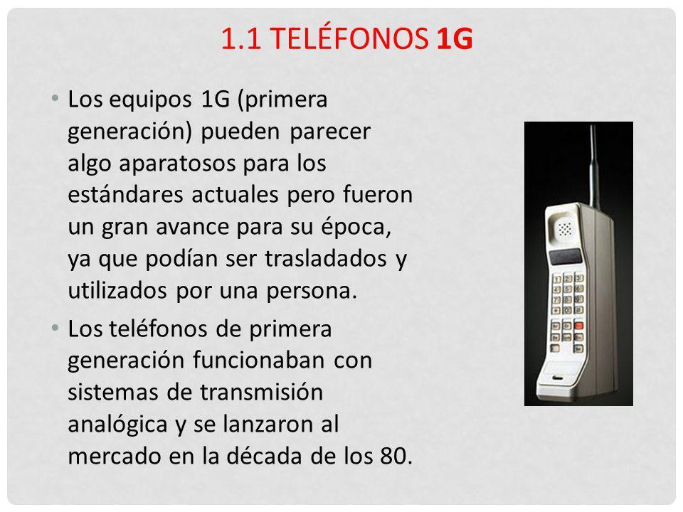 Los equipos 1G (primera generación) pueden parecer algo aparatosos para los estándares actuales pero fueron un gran avance para su época, ya que podía