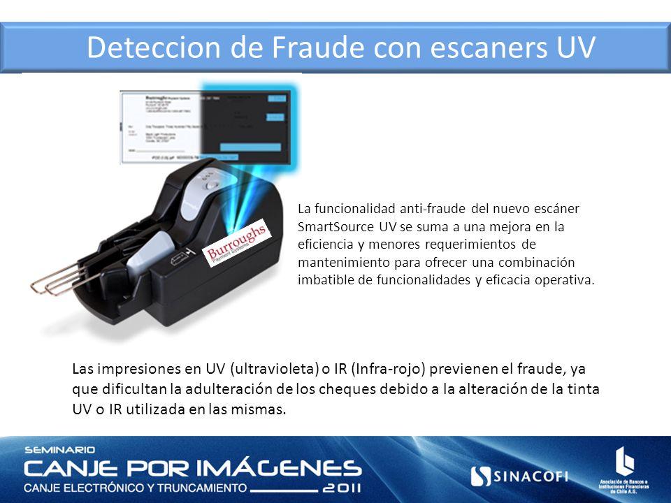 Deteccion de Fraude con escaners UV La funcionalidad anti-fraude del nuevo escáner SmartSource UV se suma a una mejora en la eficiencia y menores requ