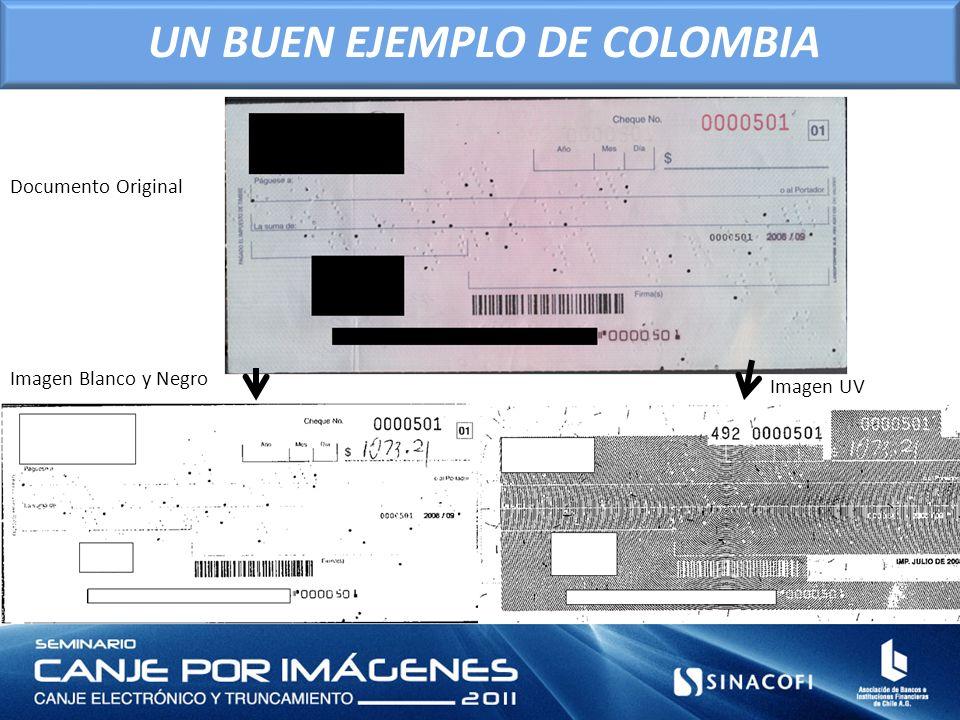 Imagen Blanco y Negro Imagen UV Documento Original UN BUEN EJEMPLO DE COLOMBIA