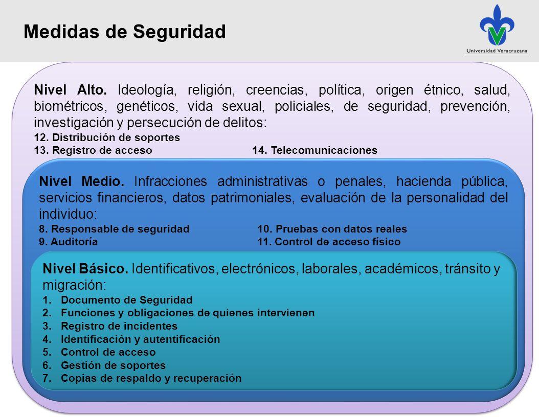 I.Nombre del SDP II.Cargo y adscripción del responsable del SDP III.Ámbito de aplicación IV.Estructura y descripción del SDP V.Especificación detallada de la categoría de datos personales VI.Funciones y obligaciones del personal que intervenga en el tratamiento de los sistemas de datos personales; VII.Medidas, normas, procedimientos y criterios enfocados a garantizar el nivel de seguridad exigido por el artículo 30 fracción II de la Ley y los presentes Lineamientos; VIII.Procedimientos de notificación, gestión y respuesta ante incidencias; IX.Procedimientos para la realización de copias de respaldo y recuperación de los datos, para los SDP automatizados X.Procedimientos para la realización de auditorías, en su caso.