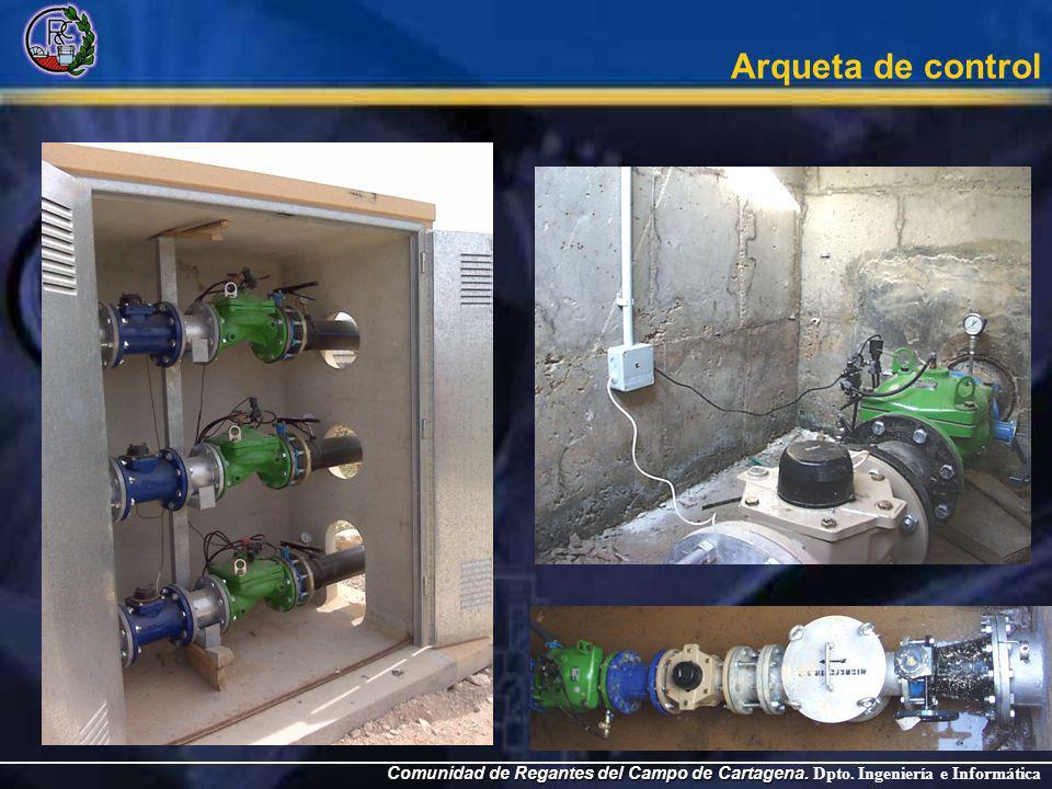 Comunidad de Regantes del Campo de Cartagena. Comunidad de Regantes del Campo de Cartagena. Dpto. Ingeniería e Informática Arqueta de control