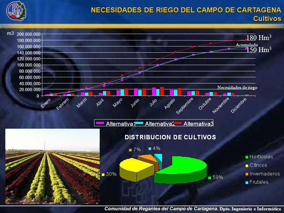 Comunidad de Regantes del Campo de Cartagena. Comunidad de Regantes del Campo de Cartagena. Dpto. Ingeniería e Informática NECESIDADES DE RIEGO DEL CA