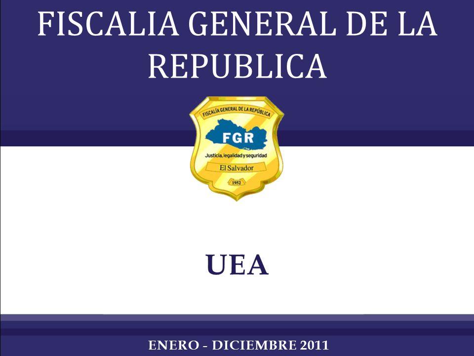 UEA FISCALIA GENERAL DE LA REPUBLICA ENERO - DICIEMBRE 2011