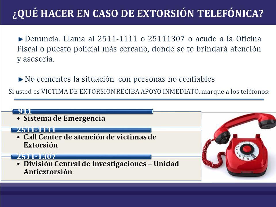 Denuncia. Llama al 2511-1111 o 25111307 o acude a la Oficina Fiscal o puesto policial más cercano, donde se te brindará atención y asesoría. No coment