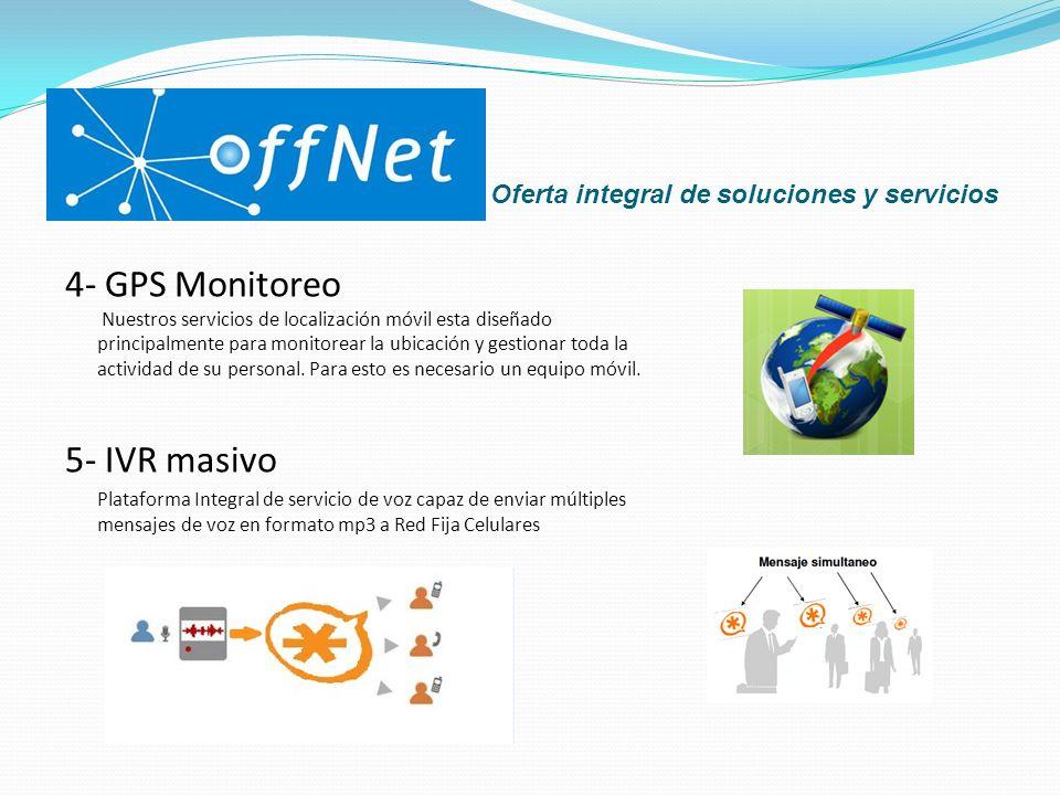 Oferta Integral de soluciones y servicios 6- Cloud Dialer La más completa y avanzada plataforma para call centers.