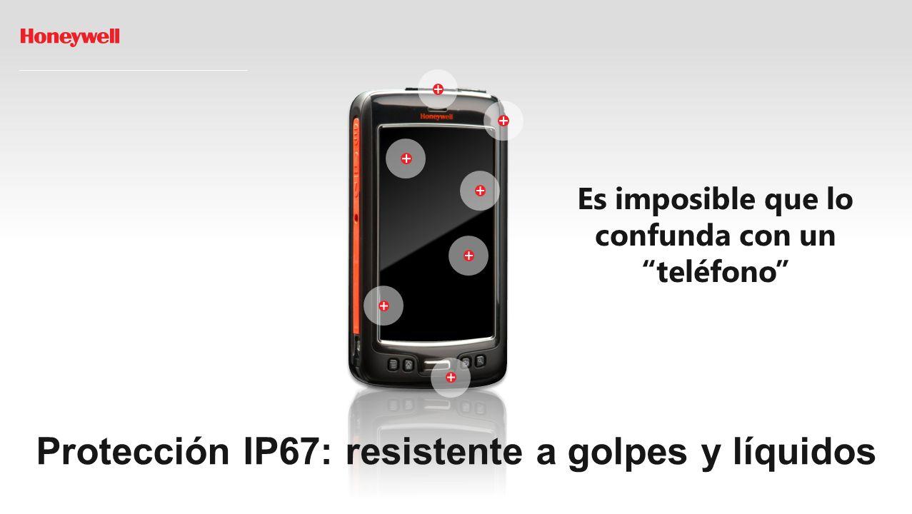 Protección IP67: resistente a golpes y líquidos Es imposible que lo confunda con un teléfono