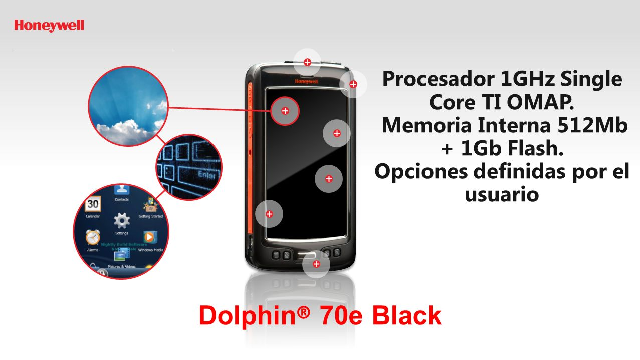 Dolphin ® 70e Black Procesador 1GHz Single Core TI OMAP.