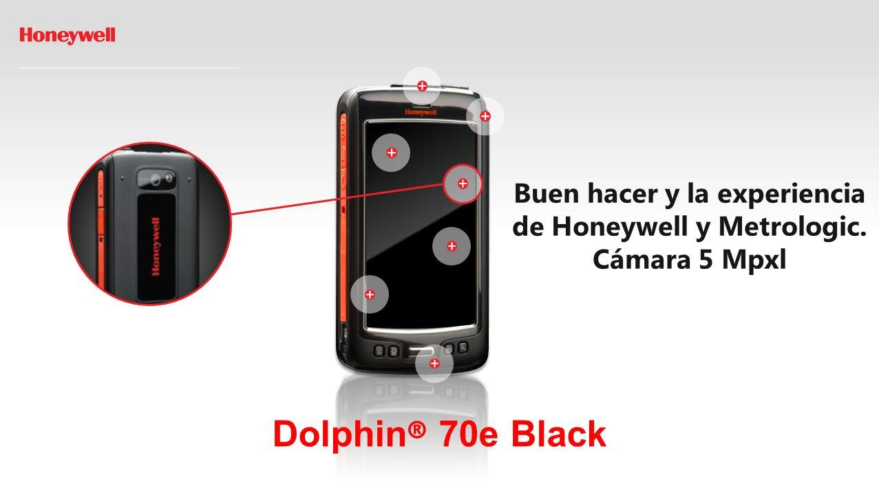 Dolphin ® 70e Black Buen hacer y la experiencia de Honeywell y Metrologic. Cámara 5 Mpxl