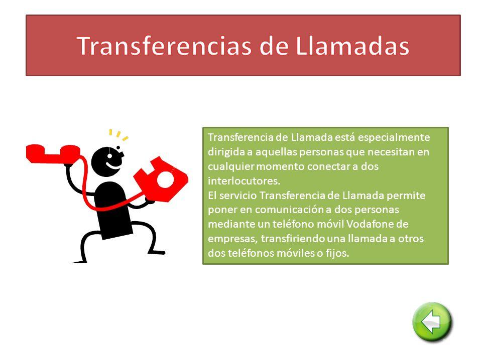 Transferencia de Llamada está especialmente dirigida a aquellas personas que necesitan en cualquier momento conectar a dos interlocutores.