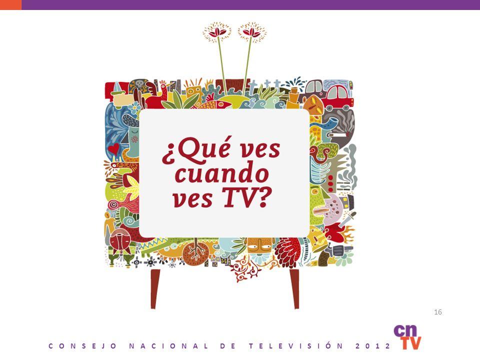 CONSEJO NACIONAL DE TELEVISIÓN 2012 16