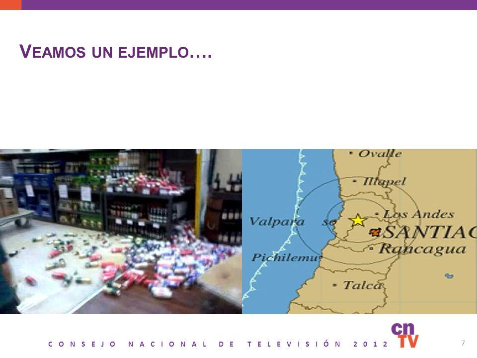 CONSEJO NACIONAL DE TELEVISIÓN 2012 7 V EAMOS UN EJEMPLO ….