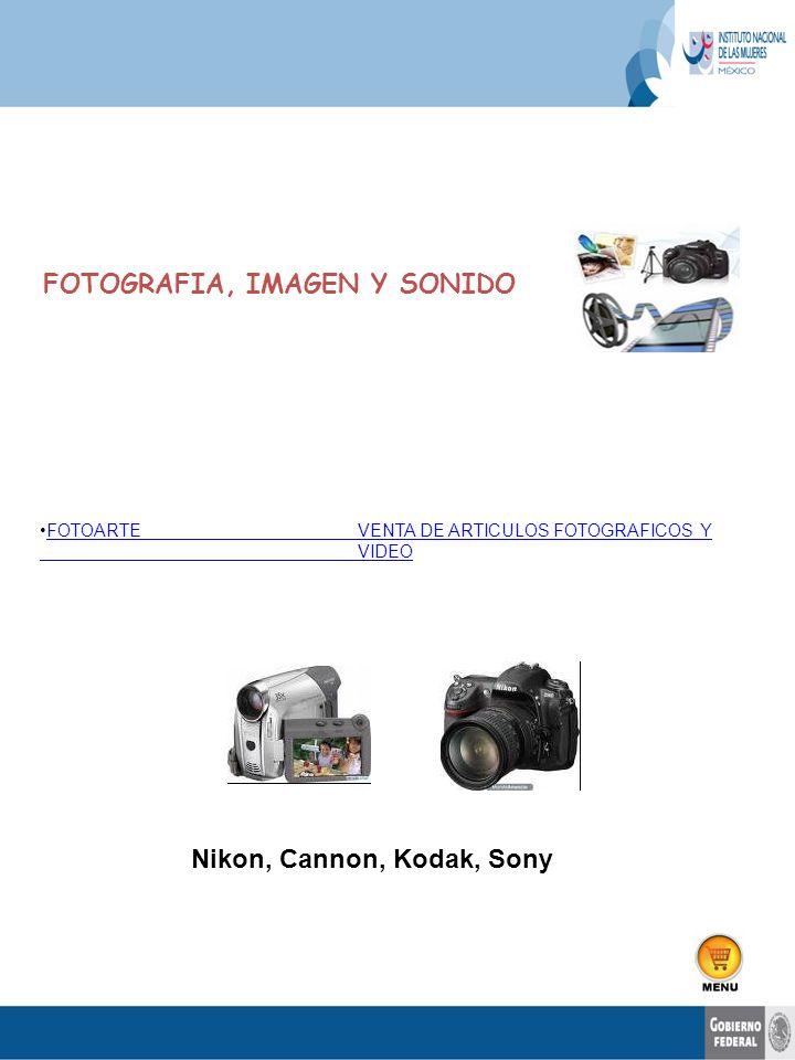 FOTOARTEVENTA DE ARTICULOS FOTOGRAFICOS Y VIDEOFOTOARTEVENTA DE ARTICULOS FOTOGRAFICOS Y VIDEO FOTOGRAFIA, IMAGEN Y SONIDO Nikon, Cannon, Kodak, Sony