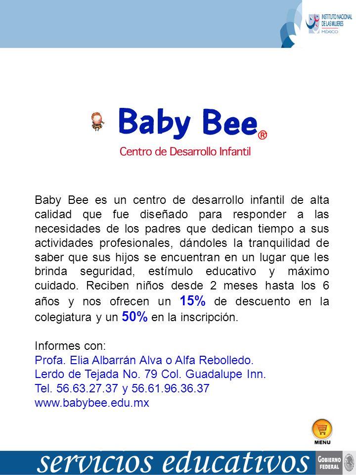 Baby Bee es un centro de desarrollo infantil de alta calidad que fue diseñado para responder a las necesidades de los padres que dedican tiempo a sus