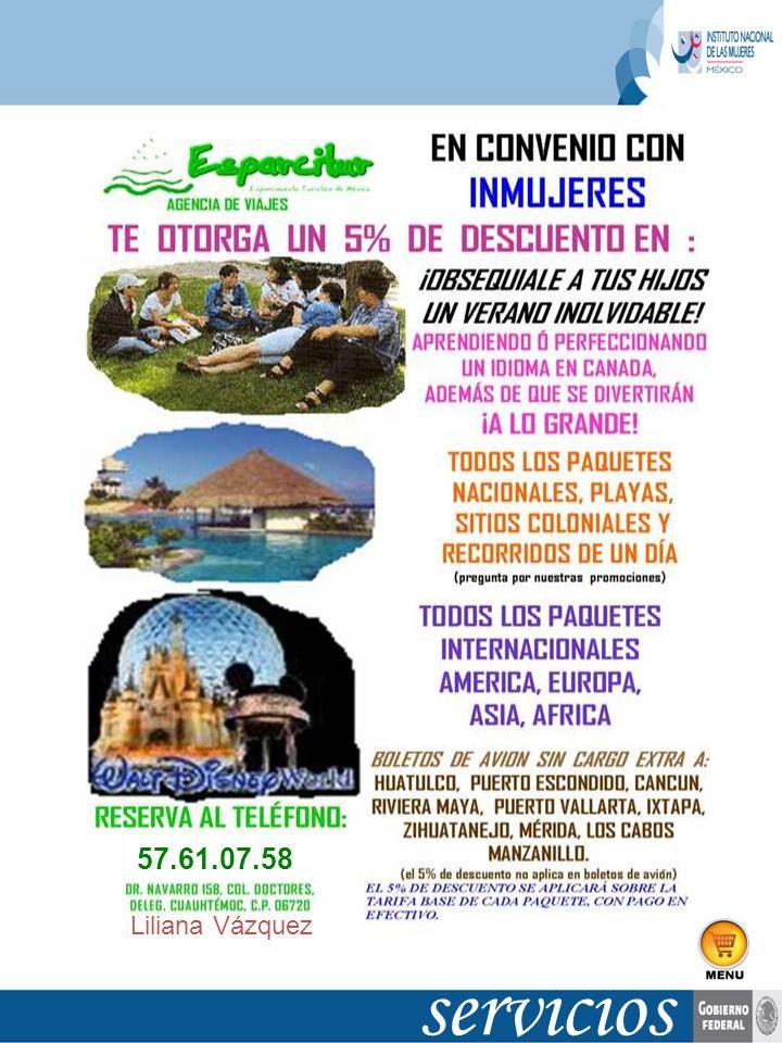 Liliana Vázquez servicios 57.61.07.58