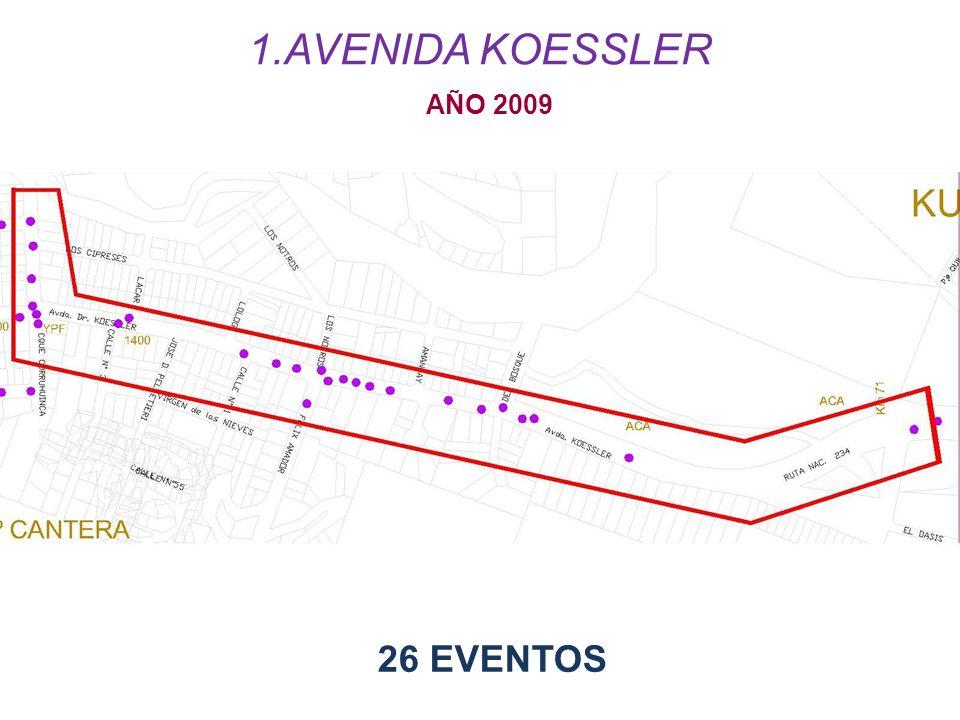 AÑO 2009 26 EVENTOS 1.AVENIDA KOESSLER