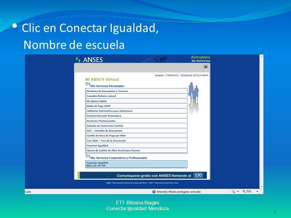 Clic en Conectar Igualdad, Nombre de escuela ETT Bibiana Biagini Conectar Igualdad Mendoza 4