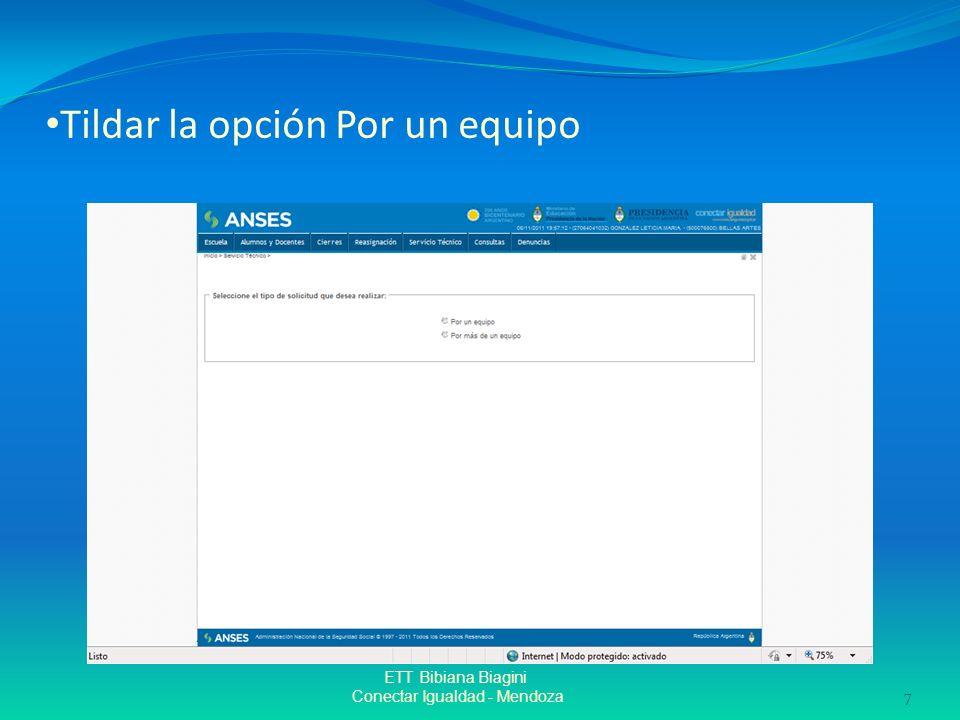 Tildar la opción Por un equipo ETT Bibiana Biagini Conectar Igualdad - Mendoza 7