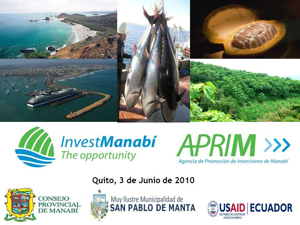 Objetivo Consolidar a la agencia como un instrumento publico/privado de atracción de inversiones y fomento de exportaciones manabitas.
