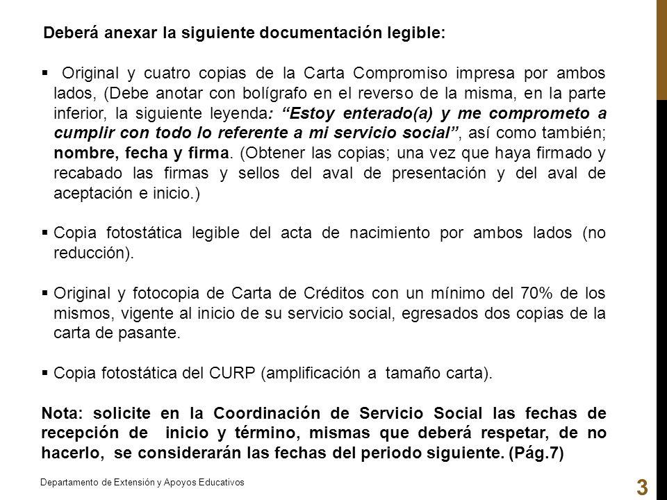 Deberá anexar la siguiente documentación legible: Original y cuatro copias de la Carta Compromiso impresa por ambos lados, (Debe anotar con bolígrafo