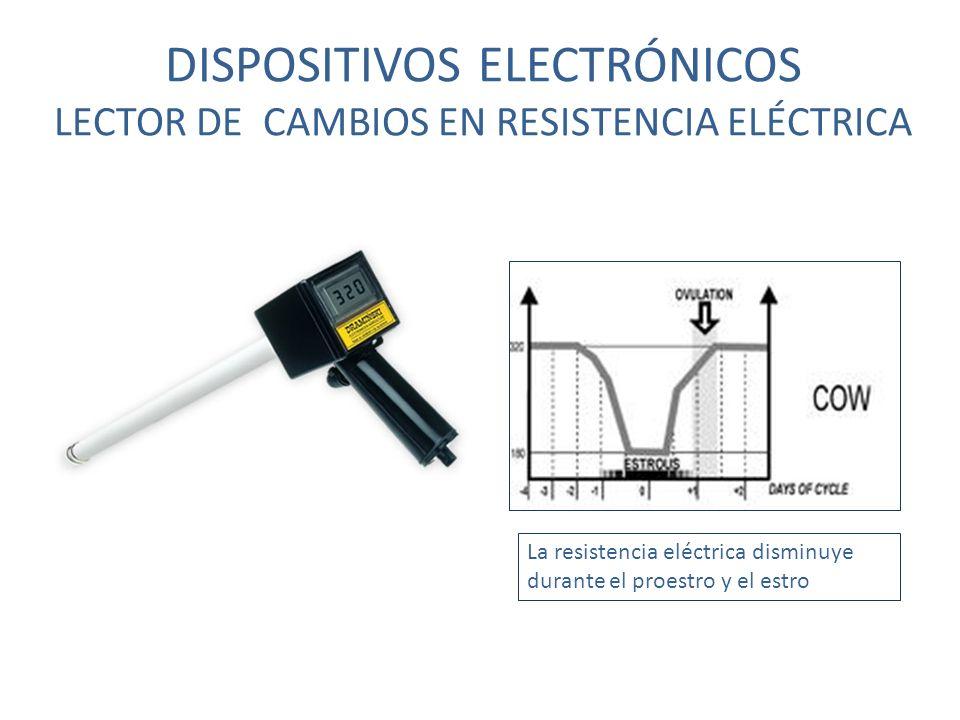 DISPOSITIVOS ELECTRÓNICOS LECTOR DE CAMBIOS EN RESISTENCIA ELÉCTRICA La resistencia eléctrica disminuye durante el proestro y el estro