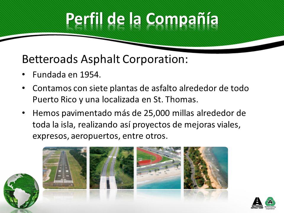Betterecycling Corporation: Fundada en 1997.