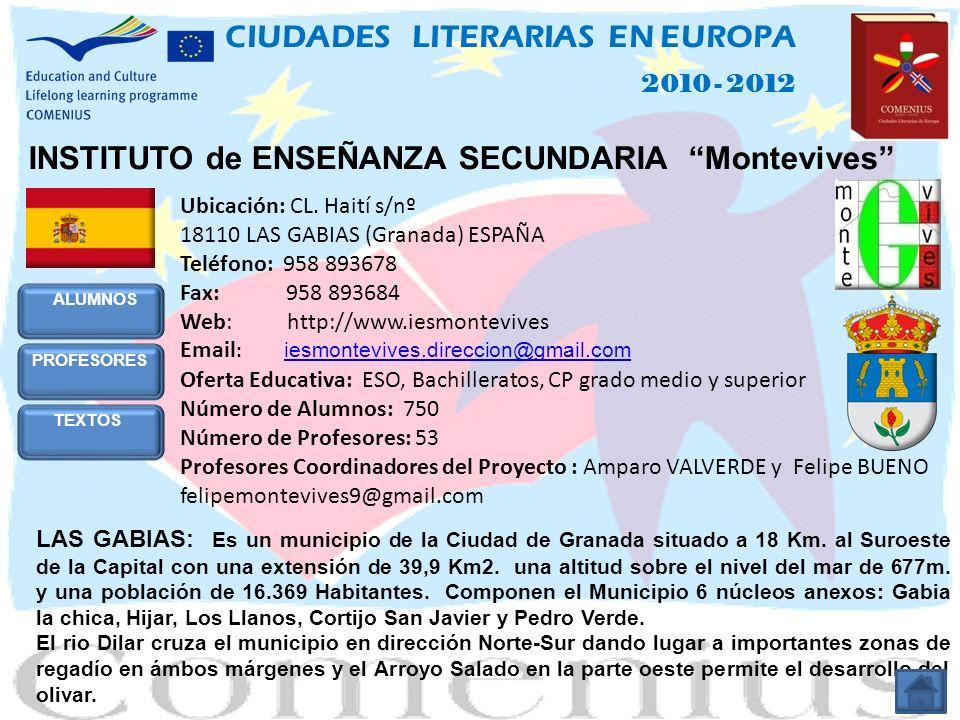 INSTITUTO de ENSEÑANZA SECUNDARIA Montevives Ubicación: CL.