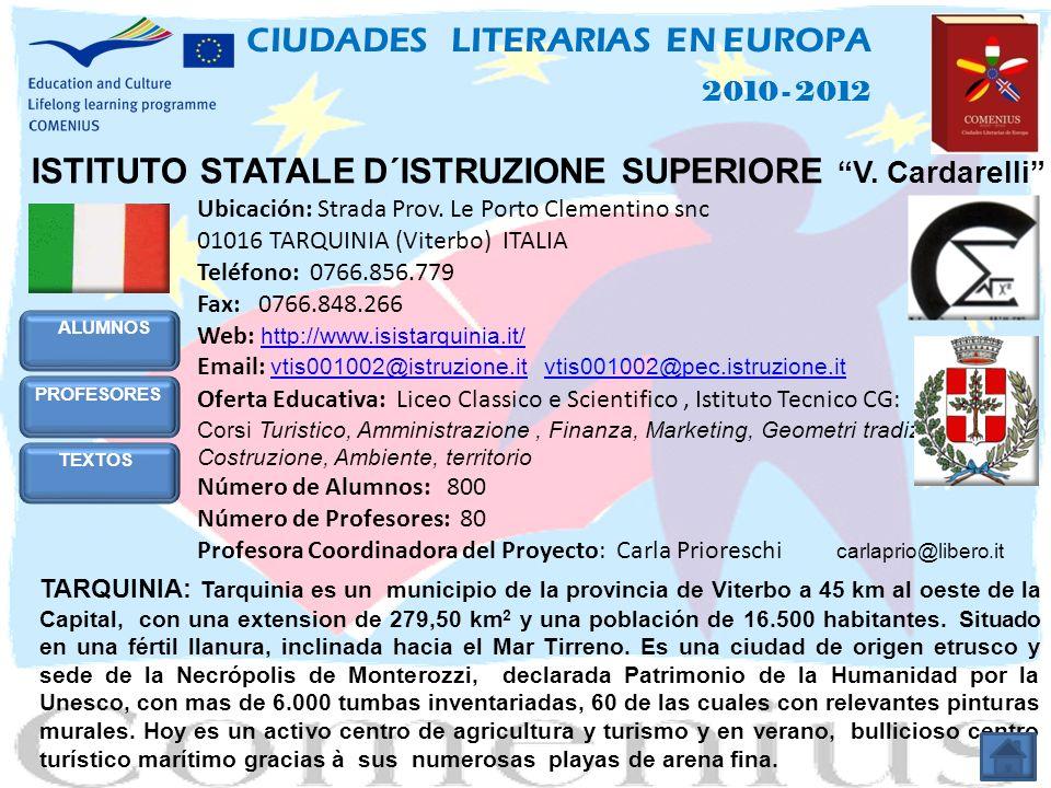 ECOLEA - INTERNATIONALE SCHULE SCHWERIN 2010 - 2012 CIUDADES LITERARIAS EN EUROPA TEXTOS ALEMANES Ciudad Texto Autor.