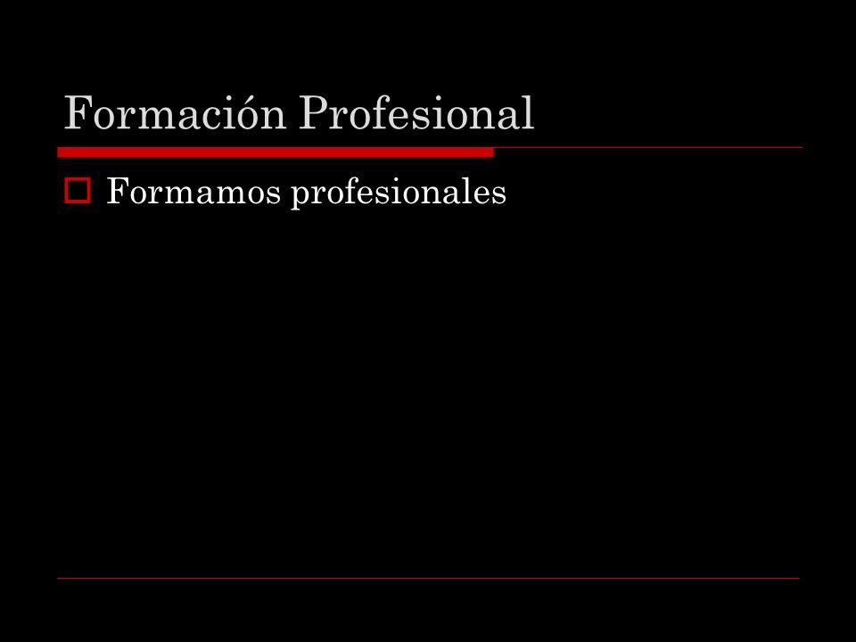 Formación Profesional Formamos profesionales