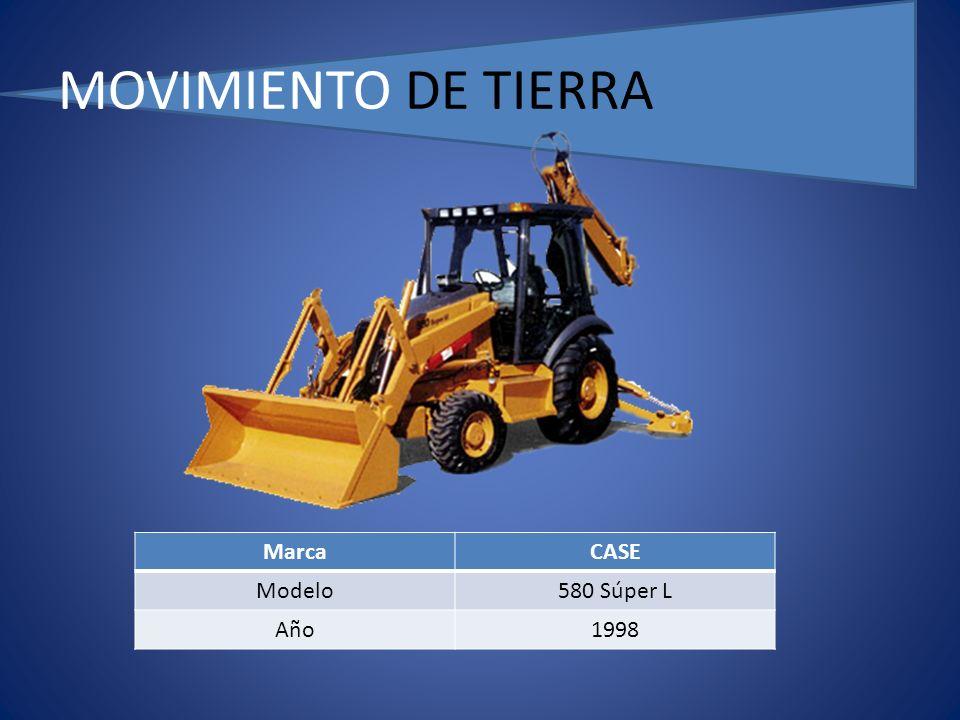 MOVIMIENTO DE TIERRA MarcaCASE Modelo580 Súper L Año1998