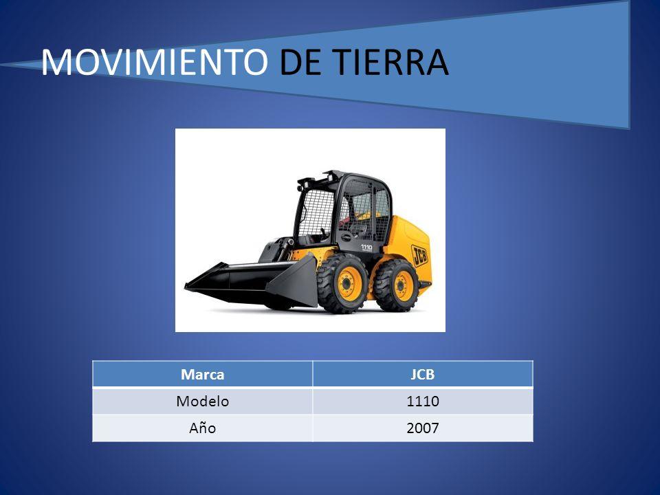 MOVIMIENTO DE TIERRA MarcaJCB Modelo1110 Año2007