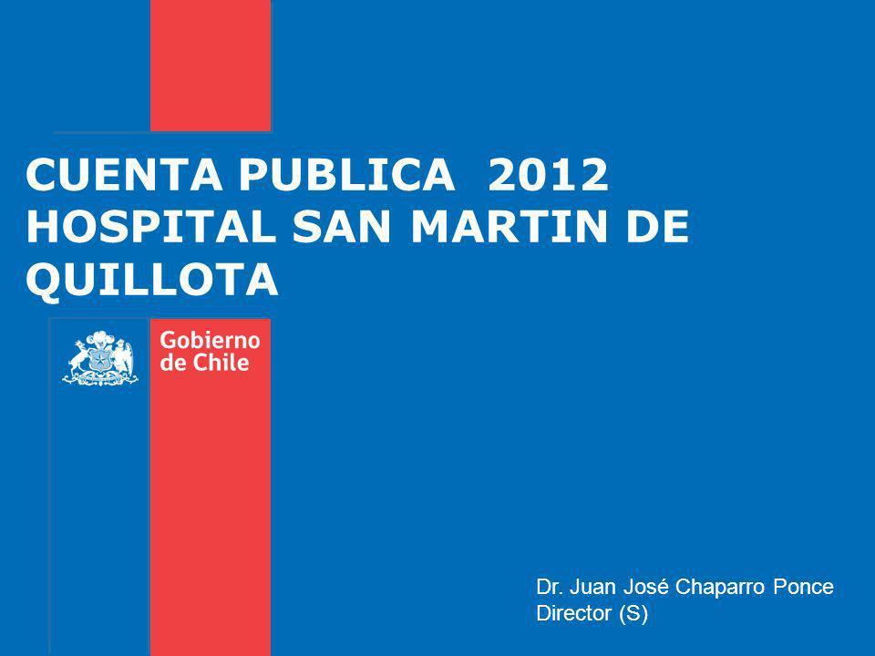 CUENTA PUBLICA 2012 HOSPITAL SAN MARTIN DE QUILLOTA Dr. Juan José Chaparro Ponce Director (S)