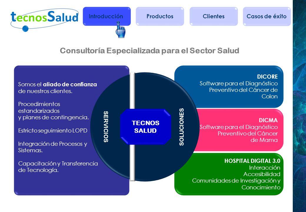 Consultoría Especializada para el Sector Salud HOSPITAL DIGITAL 3.0 Interacción Accesibilidad Comunidades de Investigación y Conocimiento DICMA Softwa