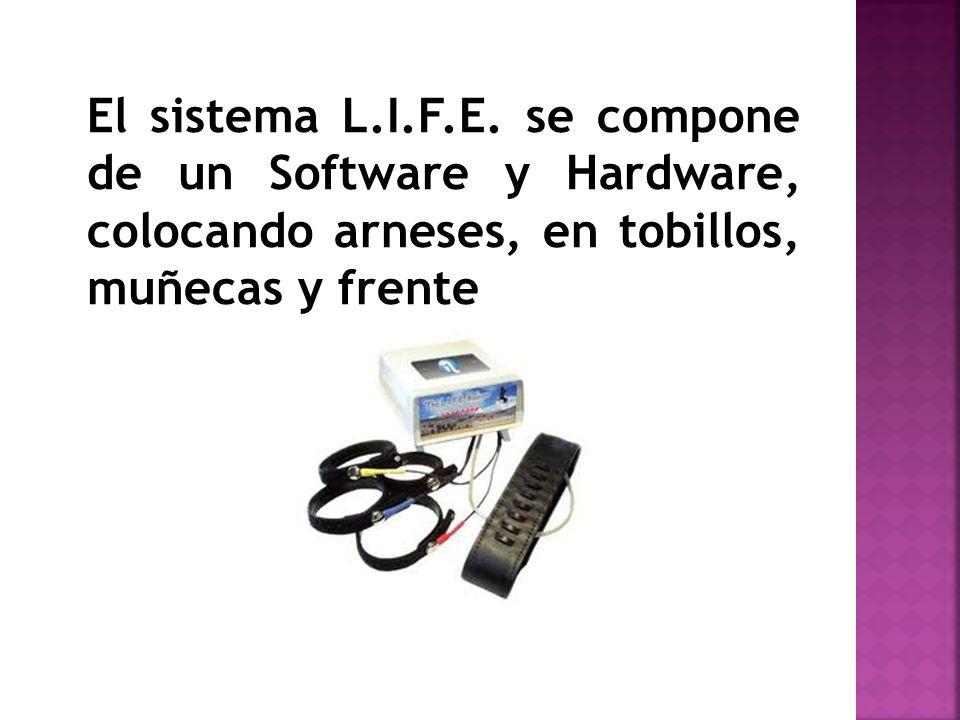 El sistema L.I.F.E. se compone de un Software y Hardware, colocando arneses, en tobillos, muñecas y frente