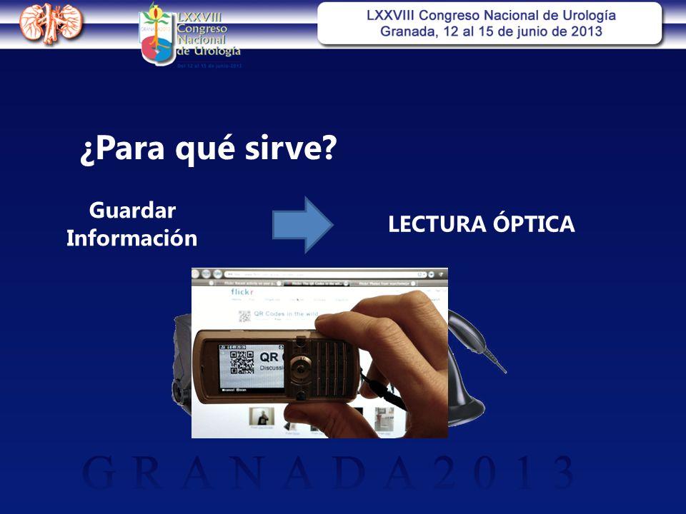 ¿Para qué sirve Guardar Información LECTURA ÓPTICA