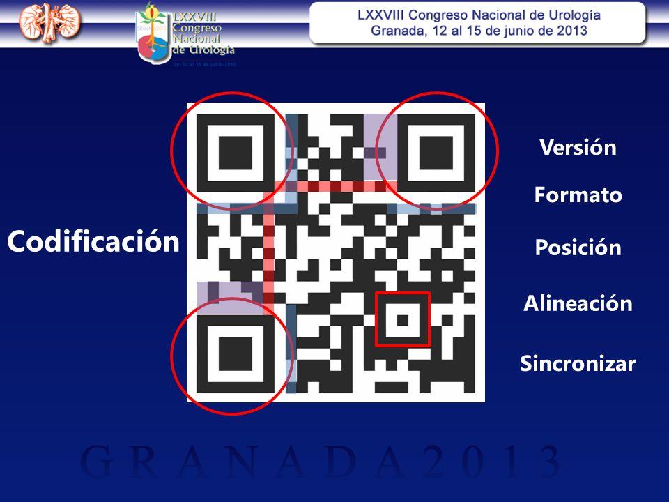 Posición Alineación Sincronizar Versión Formato Codificación