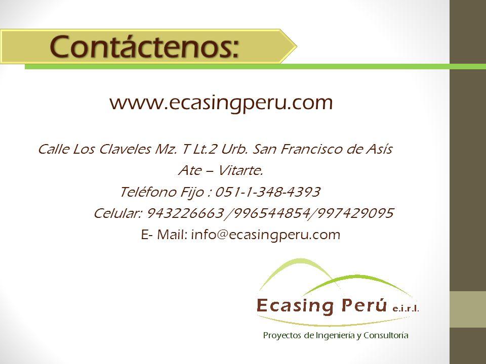 www.ecasingperu.com Calle Los Claveles Mz.T Lt.2 Urb.