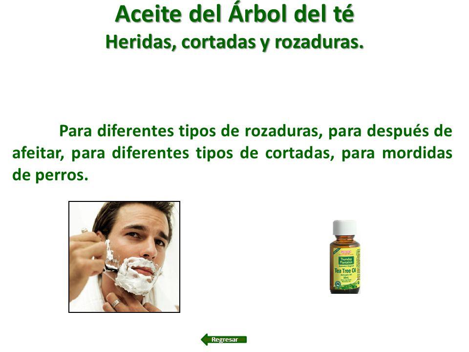 Aceite del Árbol del té Heridas, cortadas y rozaduras. Para diferentes tipos de rozaduras, para después de afeitar, para diferentes tipos de cortadas,