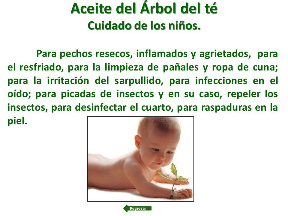 Aceite del Árbol del té Cuidado de los niños. Para pechos resecos, inflamados y agrietados, para el resfriado, para la limpieza de pañales y ropa de c