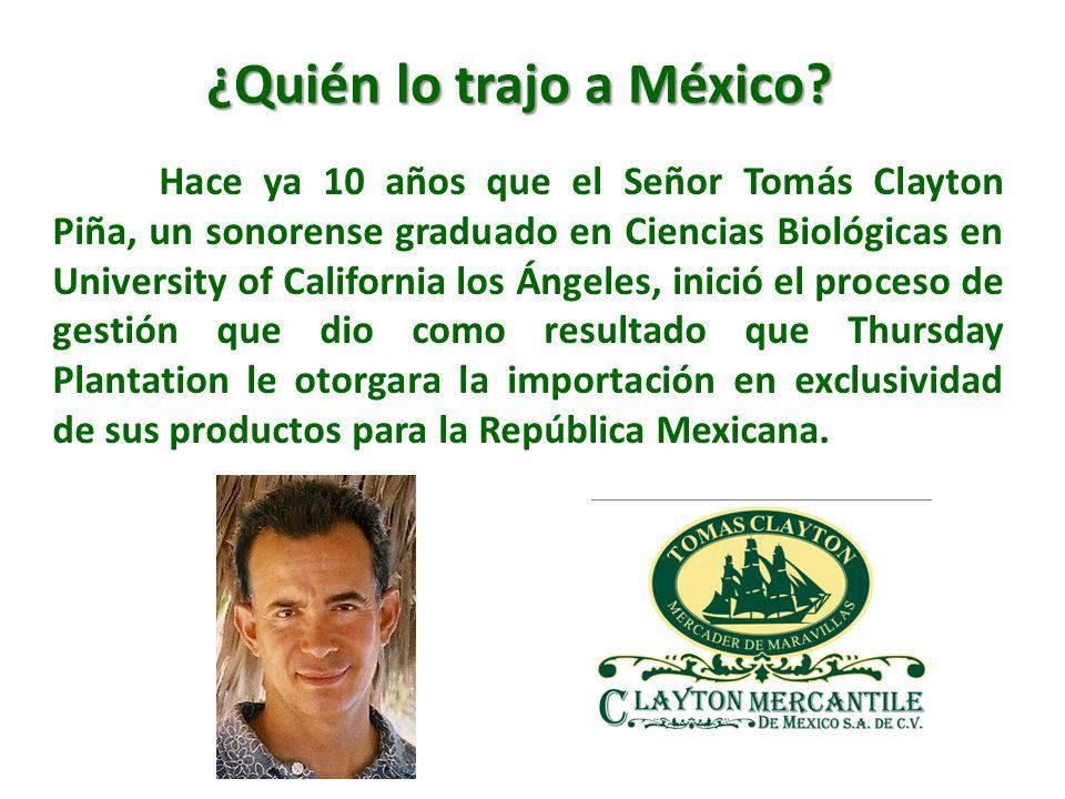 Hace ya 10 años que el Señor Tomás Clayton Piña, un sonorense graduado en Ciencias Biológicas en University of California los Ángeles, inició el proce