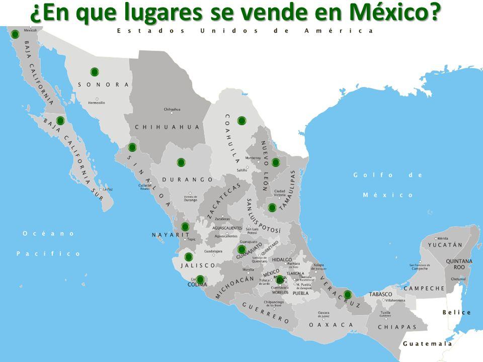 ¿En que lugares se vende en México? D.F.