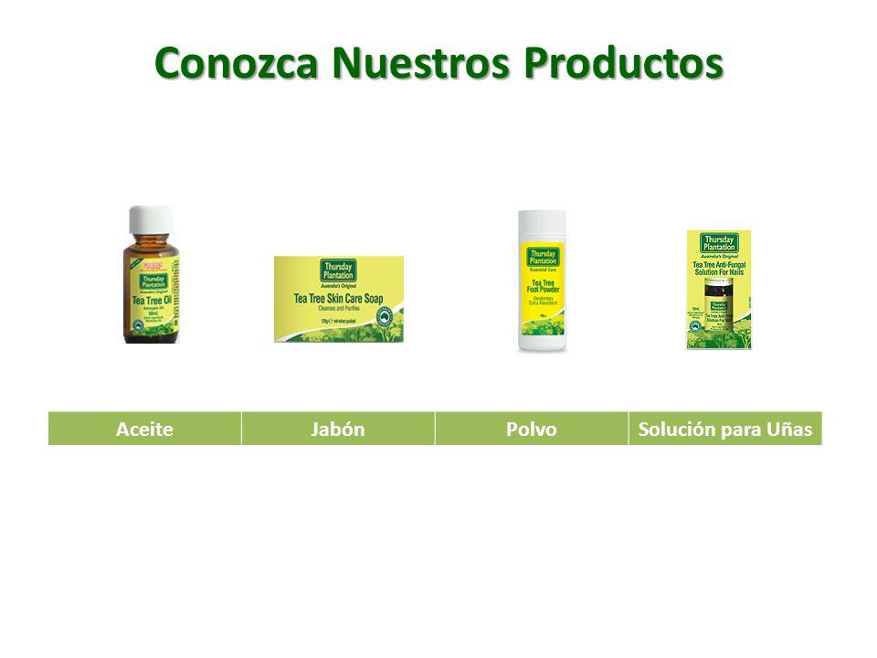 Conozca Nuestros Productos AceiteJabónPolvoSolución para Uñas